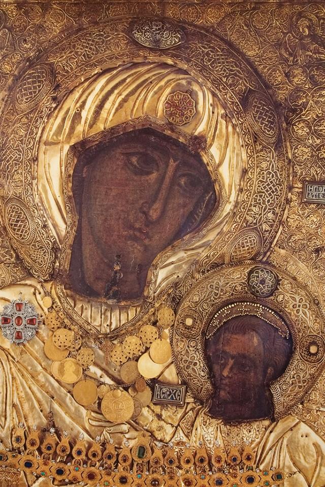 Иверская икона Божьей Матери. XI–XII вв. Монастырь Ивирон (Иверский) на Афоне