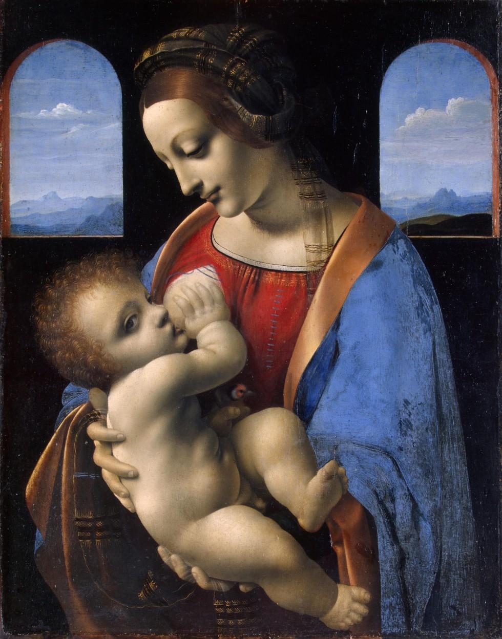 Леонардо да Винчи. Мадонна Литта.1490–1491. Фото: hermitagemuseum.org