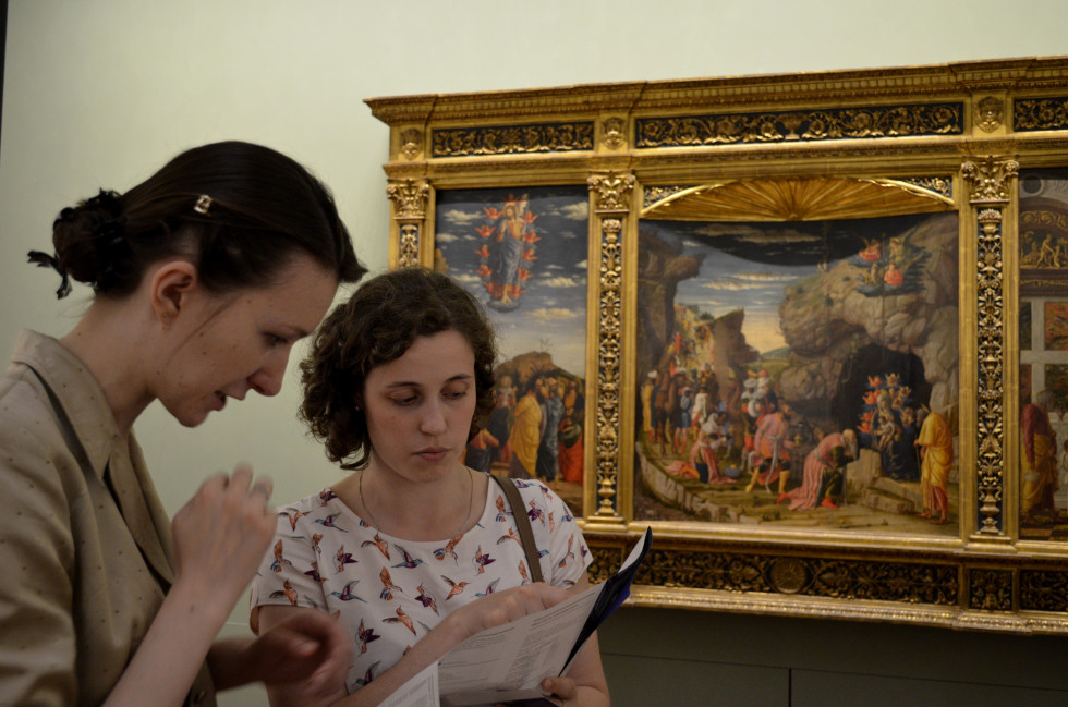 В галерее Уффици, Флоренция