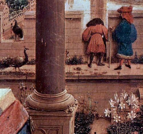 Ян ван Эйк. Мадонна канцлера Ролена (фрагмент), ок. 1450. Лувр, Париж