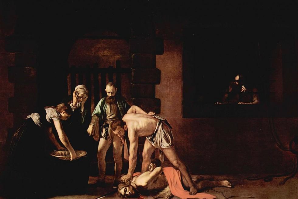Микеланджело Меризи да Караваджо. Обезглавливание Иоанна Крестителя. 1608. Собор Святого Иоанна, Валлетта, Мальта