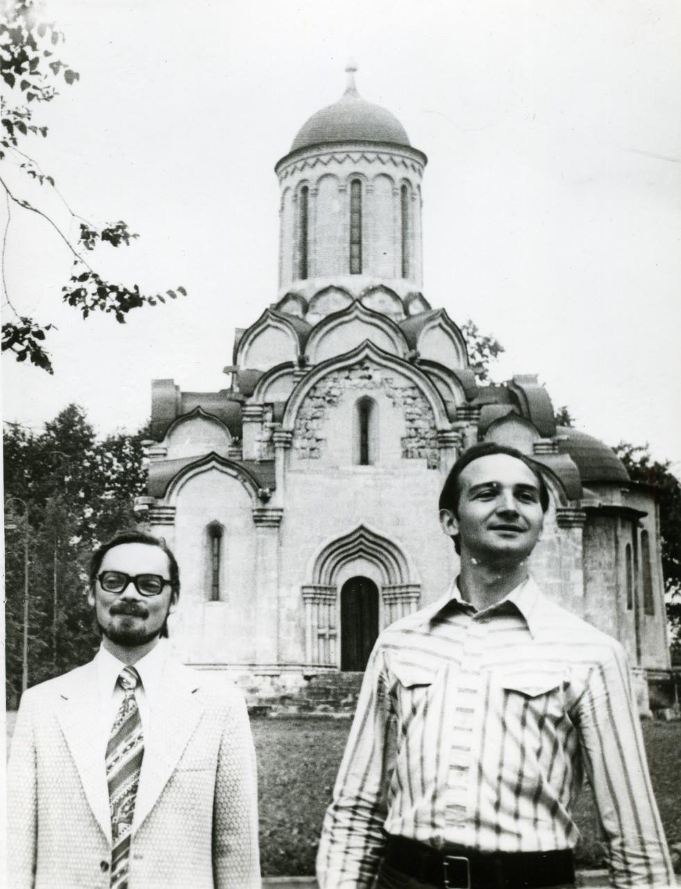Юрий Кочетков и Александр Копировский, Андроников монастырь, 1980 год