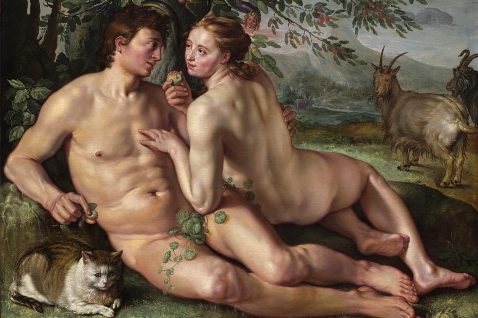 Хендрик Гольциус. Грехопадение, 1616 год.