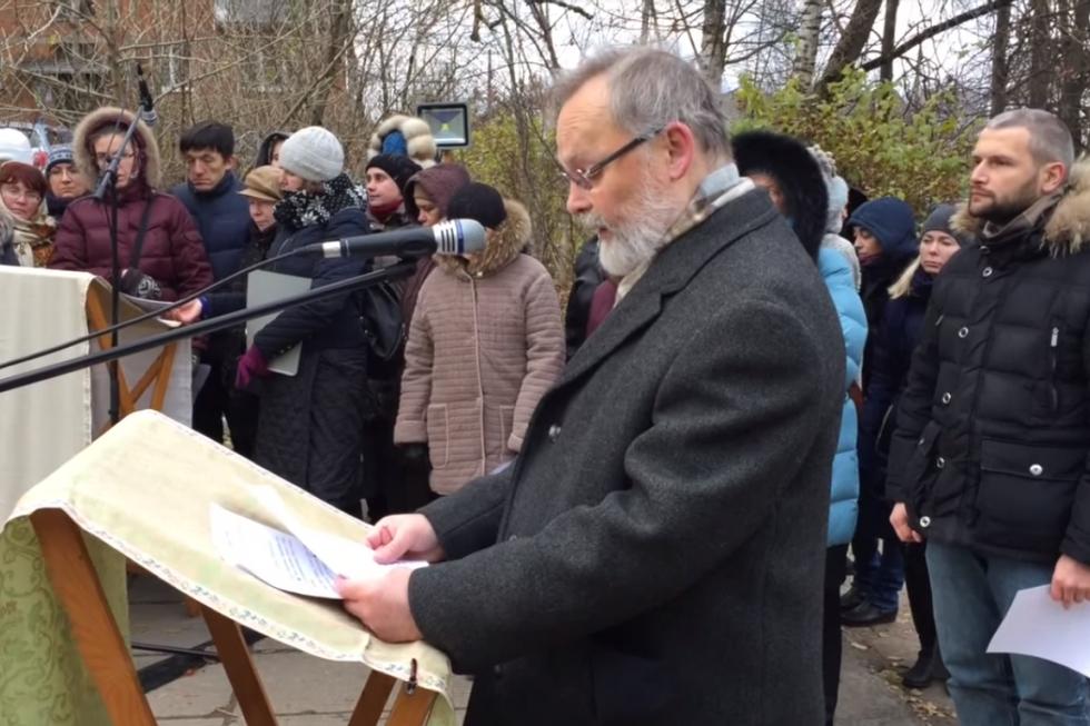 Молитва памяти в пос. Глебовский Истринского района, 2015 год