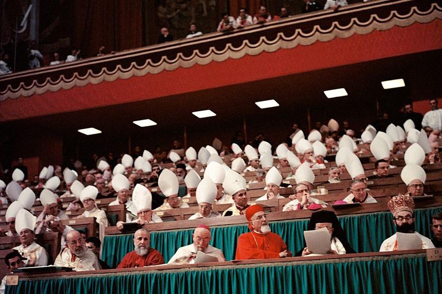 Второй Ватиканский собор. 1962-1965 годы. Фото: Lothar Wolleh.