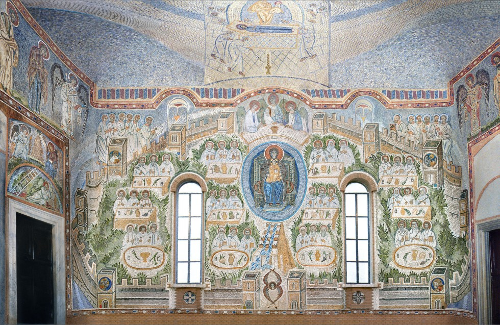 Большая часть работы Натальи Лихтенфельд посвящена композиции «Небесный Иерусалим» в папской капелле Redemptoris Mater в Ватиканском дворце, судьба которой сложилась драматически. Были сбиты мозаики свода, верхних участков боковых стен, на которых было изображено шествие праведников к Святому городу, а также мозаики верхней части восточной стены. На их месте и на трех других стенах сейчас существуют мозаики падре Марко Рупника, выполненные в модернистской стилистике