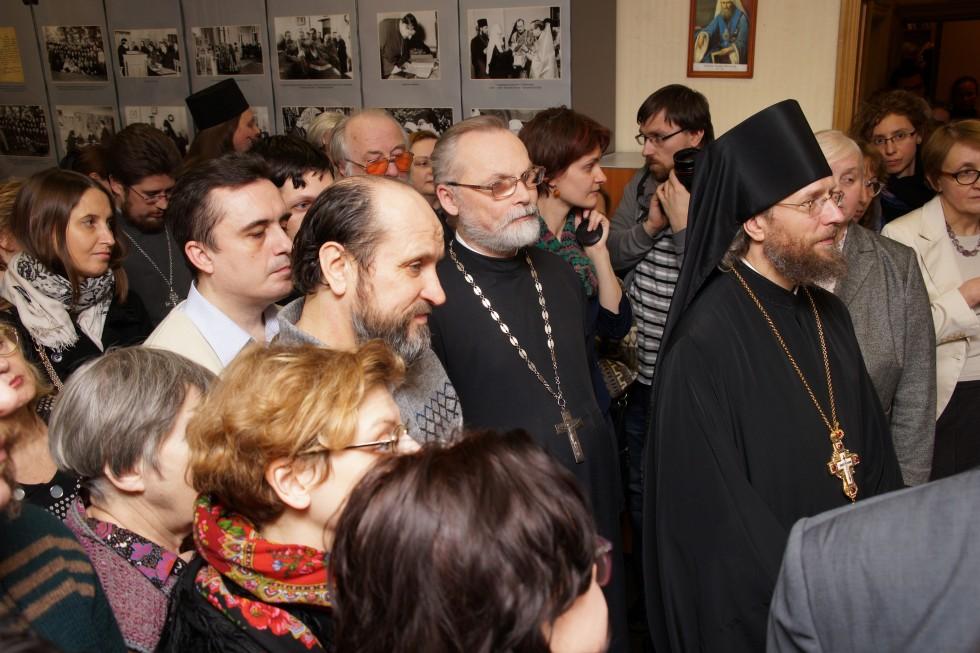 Открытие выставки, посвященной 100-летию протопресвитера Виталия Борового, в СФИ
