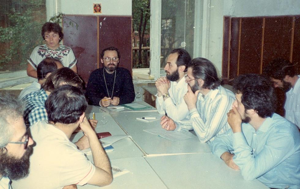 Лекция отца Георгия в Московской высшей православно-христианской школе, 1994 год