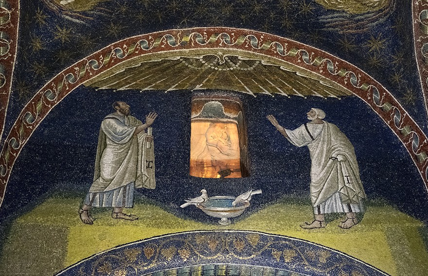 Мозаика мавзолея Галлы Плацидии в Равенне. Около 425 года. Италия