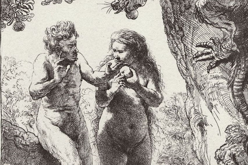 Рембрандт Харменс ван Рейн. Адам и Ева (фрагмент). 1638