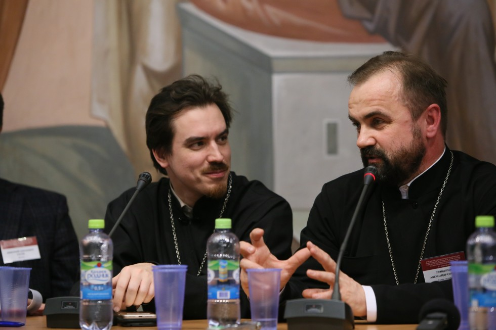 Fr. Konstantin Kostromin, Vice Principle for Theological Research at the Orthodox Academy in St. Petersburg; Fr. Alexander Sorokin, priest in charge of the church of the Fyodorov Icon of the Mother of God
