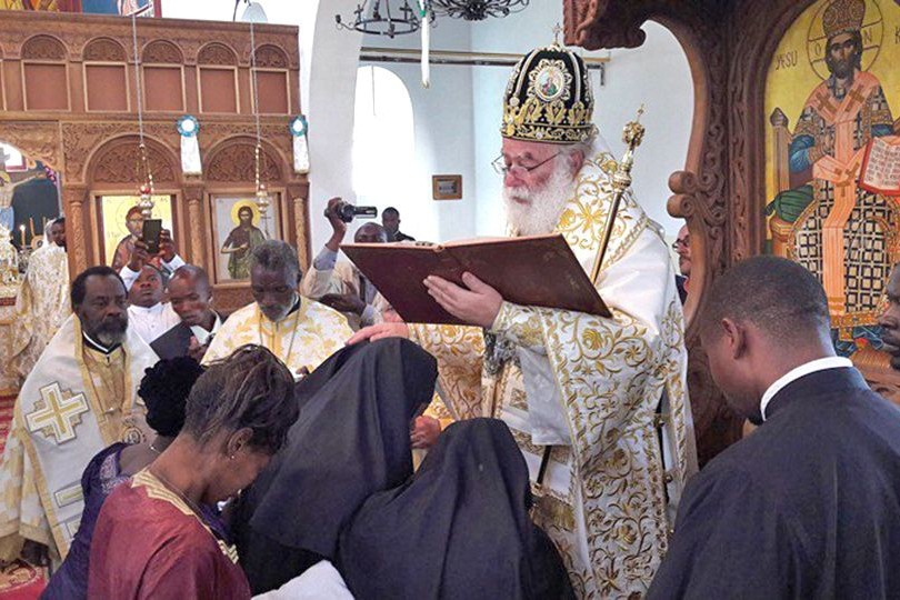 Consecration of women to the order of deaconesses. Head of the Church of Alexandria, Patriarch Theodore II