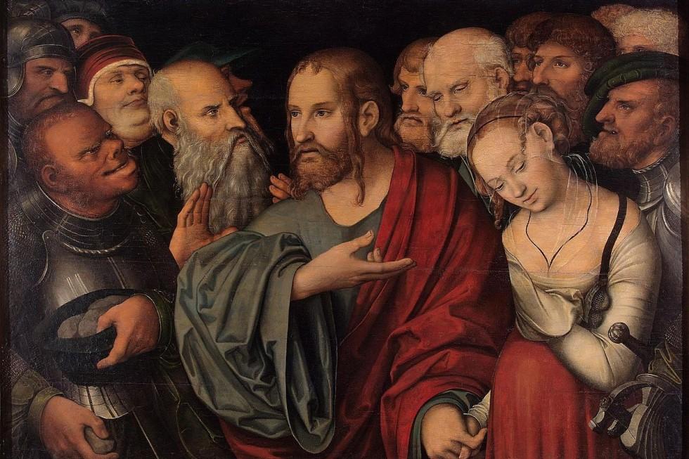 Лукас Кранах Младший. Христос и блудница, около 1532 года.