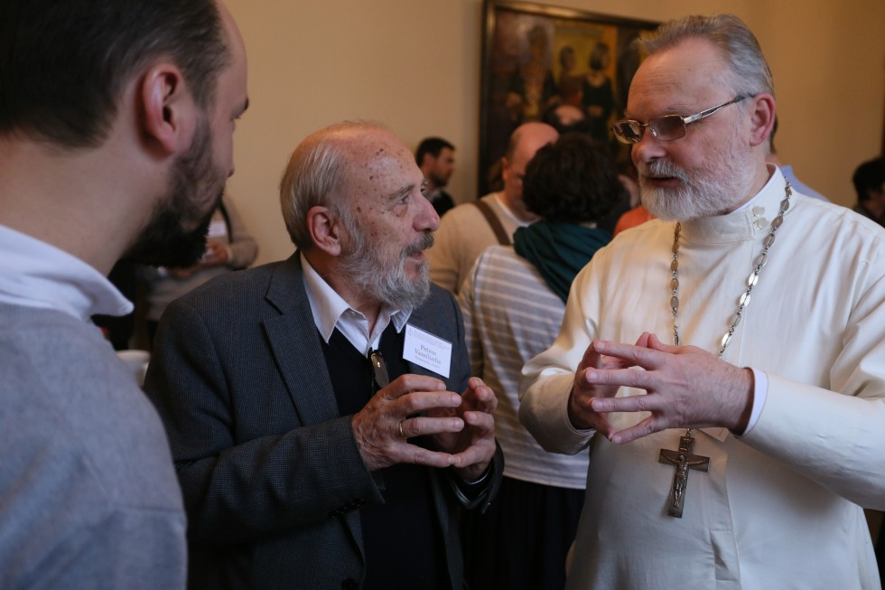 Professor Petros Vassiliadis and Fr Georgy Kochetkov