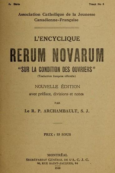Rerum novarum – энциклика папы Льва XIII. Фото: Ассоциация религиозных архивов.