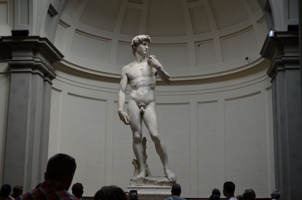Michelangelo's David, 1501-1504 at the Academy of Fine Arts in Florence