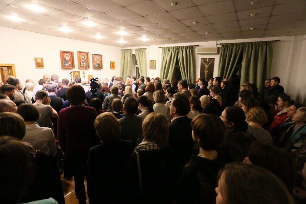 Праздничная вечерня в Свято-Филаретовской часовне в день памяти небесного покровителя СФИ