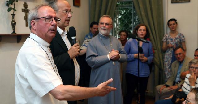 Pilgrims from France visit St. Philaret's Institute