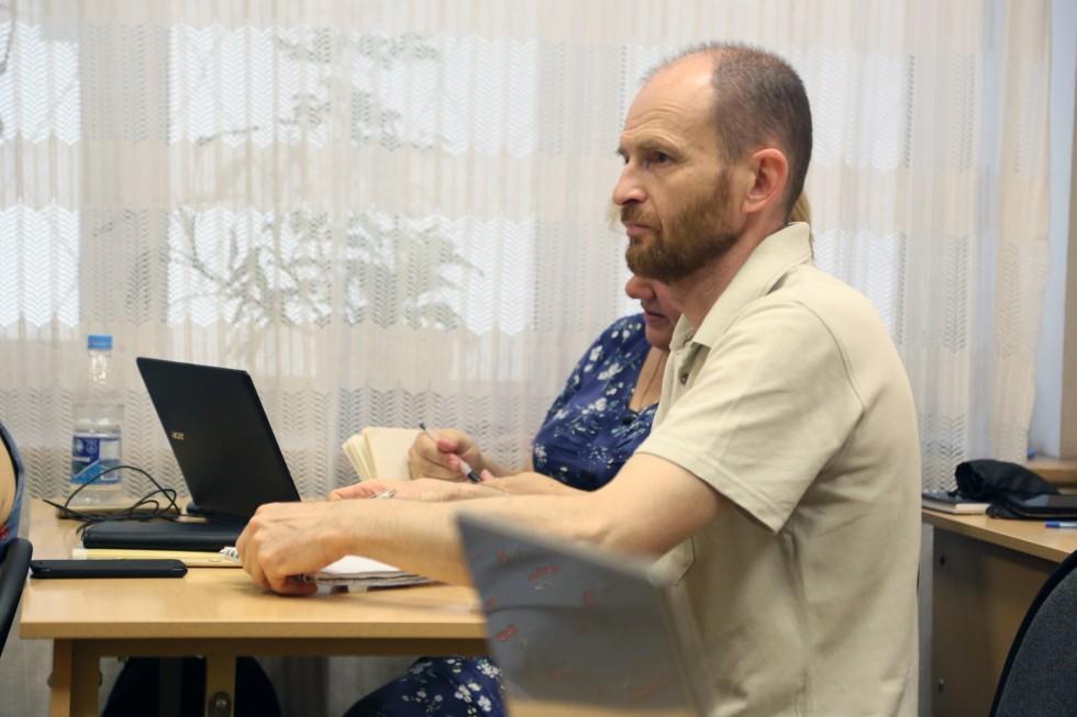 Алексей Волков на сессии в СФИ, 2016 год