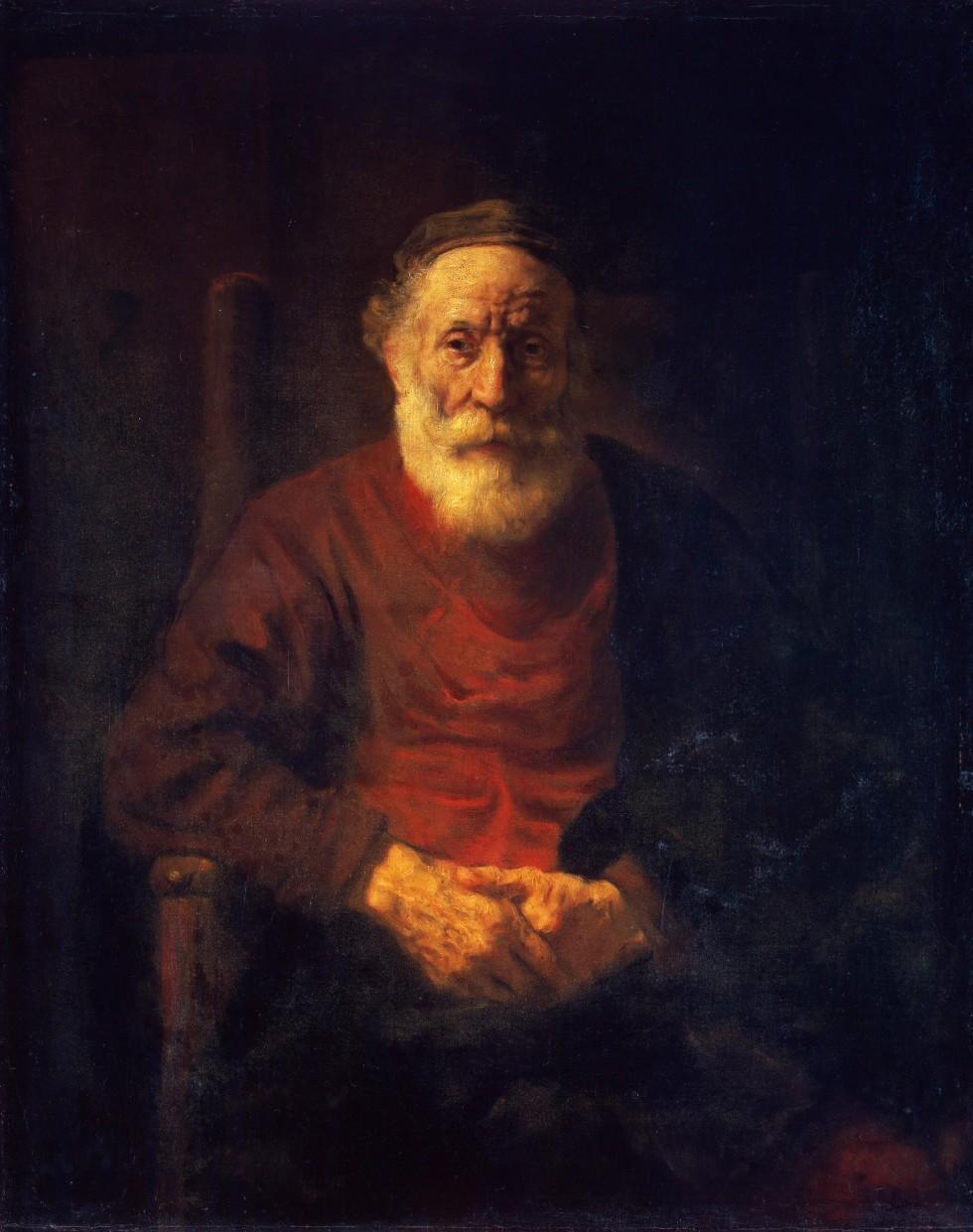 Рембрандт Харменс ван Рейн. Портрет старика в красном. Ок. 1652–1654.Фото: hermitagemuseum.org