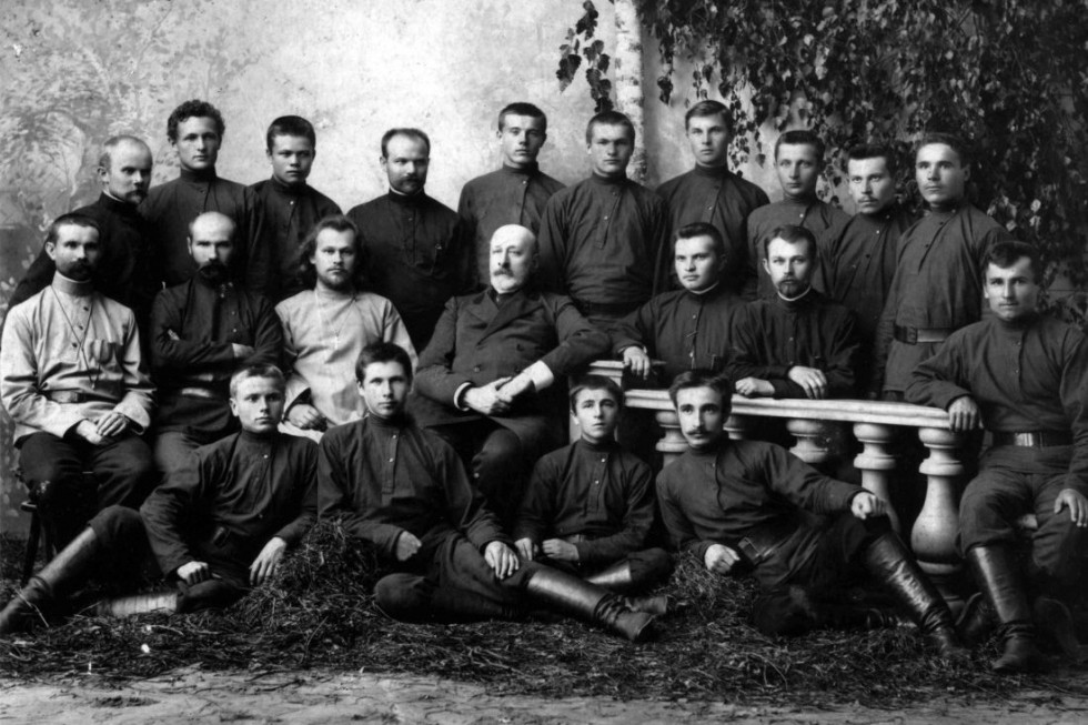 Members of the Orthodox Workers Brotherhood of the Elevation of the Holy Cross, 1904-1907.