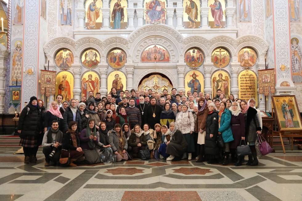 Участники конференции после литургии в Храме на Крови