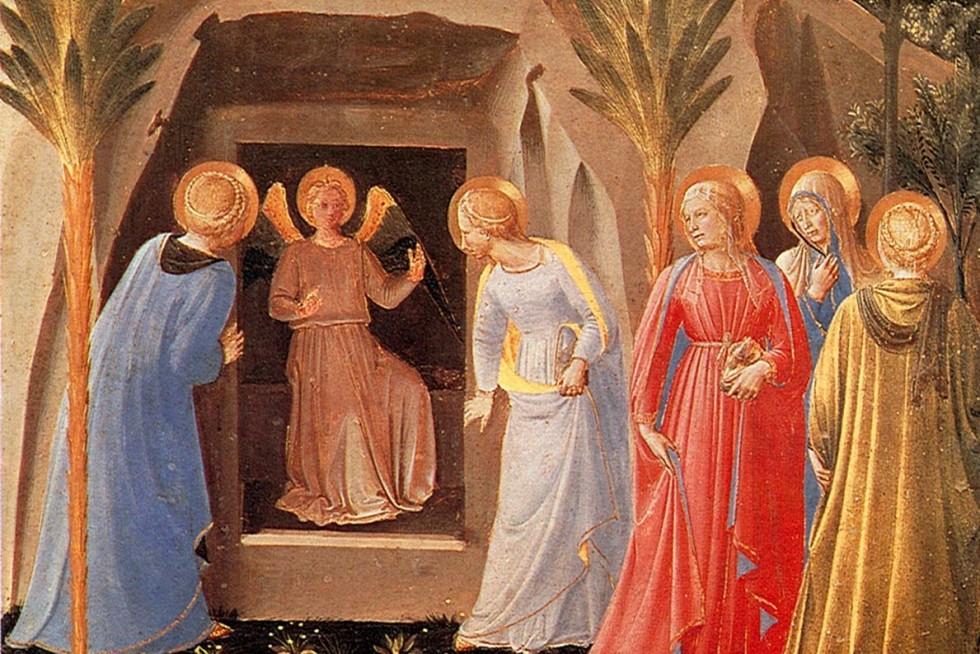 Фра Беато Анжелико. Отворение гроба. Сюжет из серии небольших картин с изображением сцен из жизни Христа на створках шкафа для серебряной утвари. Монастырь Сан Марко, Флоренция. Ок. 1451-1452