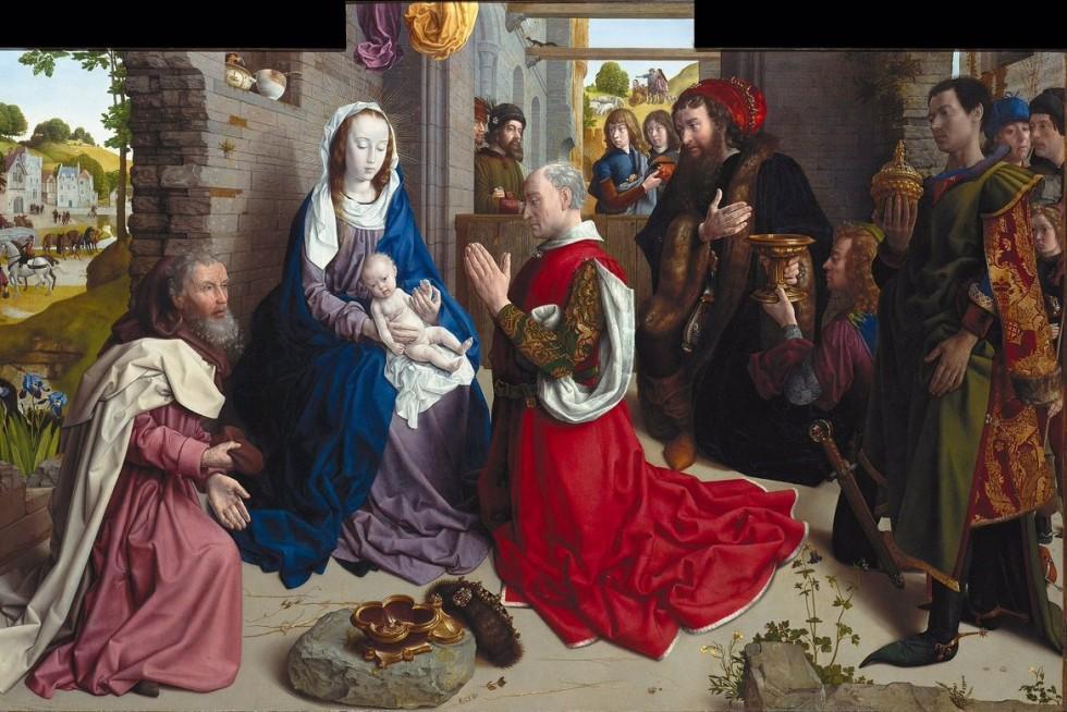 Гуго ван дер Гус. Поклонение волхвов, ок. 1468–1470