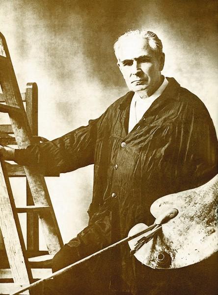 карандаш П.Д. Корин. Эскиз картины. 64 х 107 см