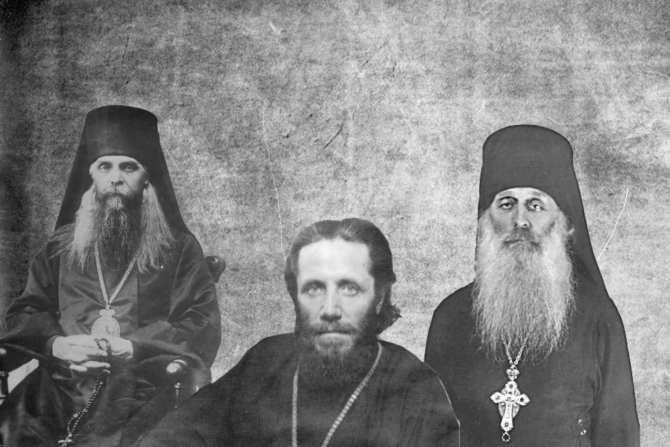 Bishop Makary (Opotskij), Innokenty (Tikhonov), Archimandrite Sergij (Savyolov)