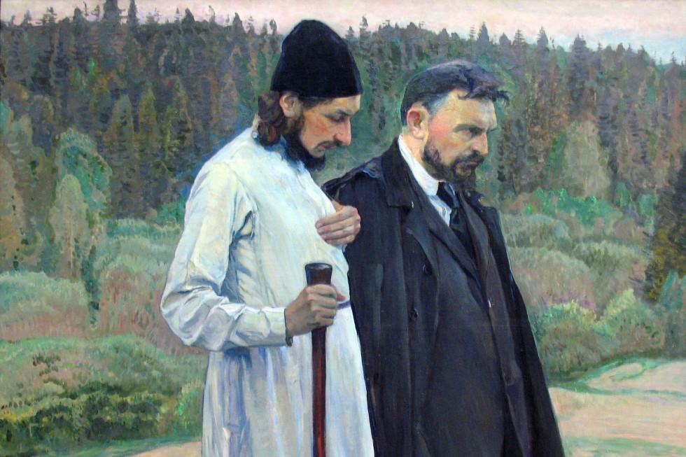 Михаил Нестеров. Философы (Павел Флоренский и Сергей Булгаков). 1917