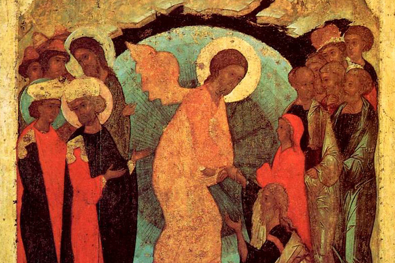 Сошествие во ад. Андрей Рублев