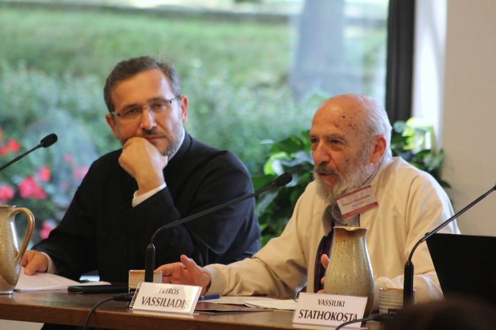 Petros Vassiliades, Honorary Professor of Thessaloniki Aristotle University (on the right)