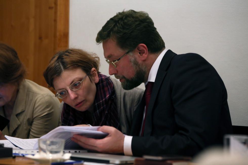Зоя Михайловна Дашевская,декан богословского факультета СФИ, и Дмитрий Сергеевич Гасак, первый проректор СФИ