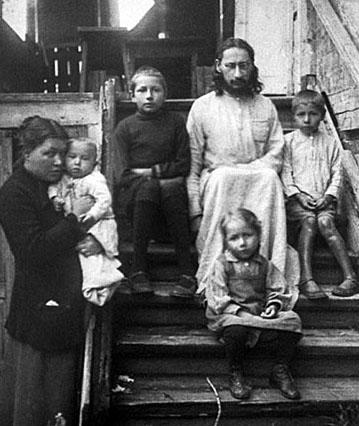 Павел Флоренский с женой и детьми