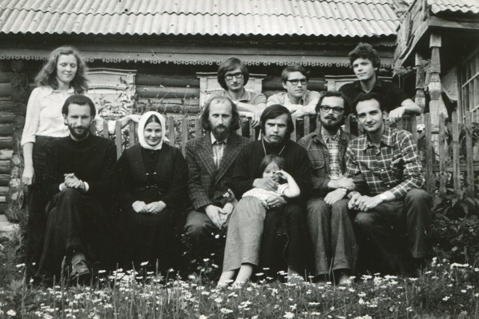 Georgy Kochetkov with friends at Fr. Arkady Shatov's parish (now Bishop Pateleimon of Orekhovo-Zuevo and Suffragan to the Patriarch of Moscow and All Russia, Head of the Synodal Department for Charity and Social Work of the ROC.) 1979