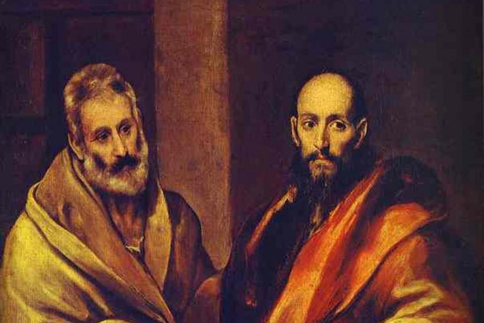 Фрагмент картины Эль Греко «Святой Пётр и святой Павел», написанной в 1587-1592 годах
