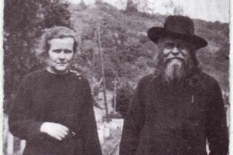 Юлия Рейтлингер (сестра Иоанна) и отец Сергий Булгаков